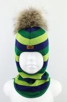 Зимняя шапка шлем Beezy -1802/54/22
