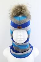 Зимняя шапка шлем Beezy -1802/58/22