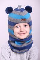 Зимняя шапка шлем Beezy -1402/60/22